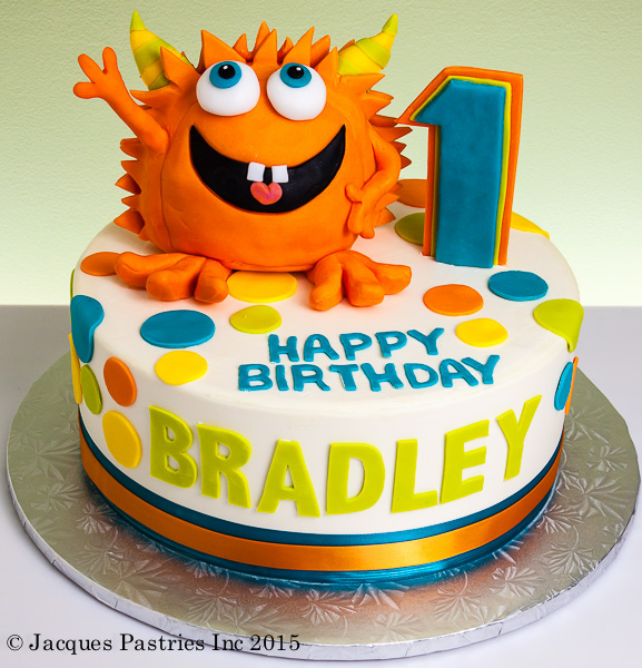 Silly Orange Monster Cake