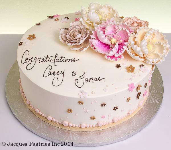 peony bouquet cake