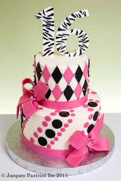 Tiered Sweet 16 Cake