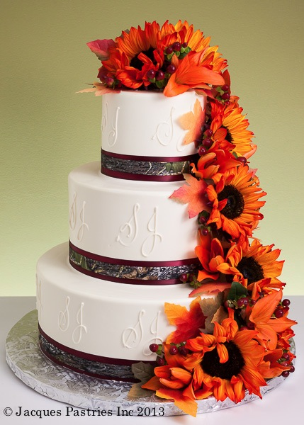 Fall wedding cakes floral fiesta cake junglespirit Image collections