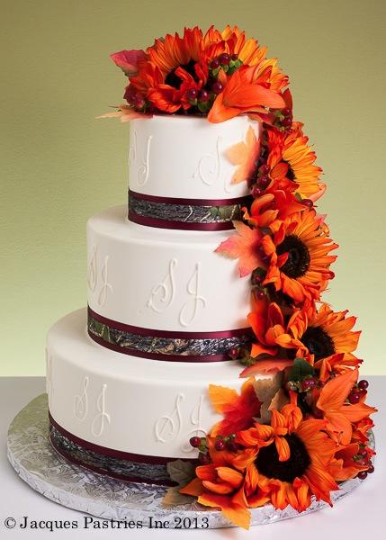 Fall wedding cakes floral fiesta cake junglespirit Choice Image