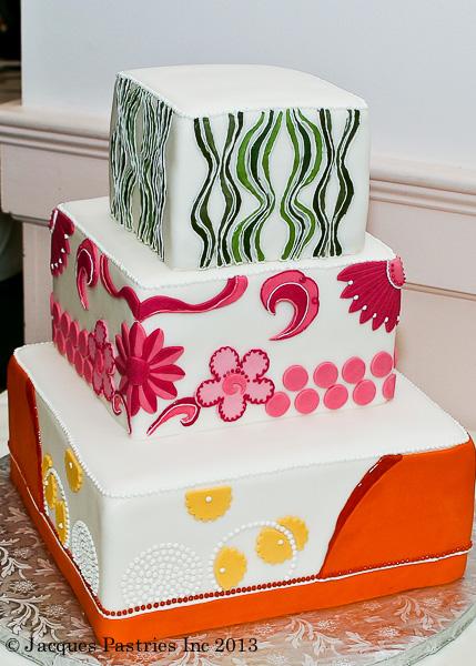 70s Retro Wedding Cake