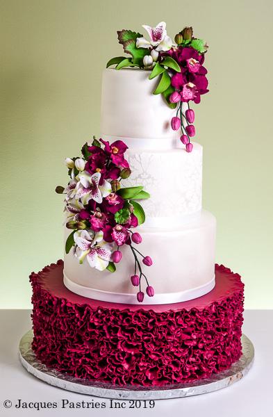Sugar floral wedding cakes paisley blossom cake mightylinksfo