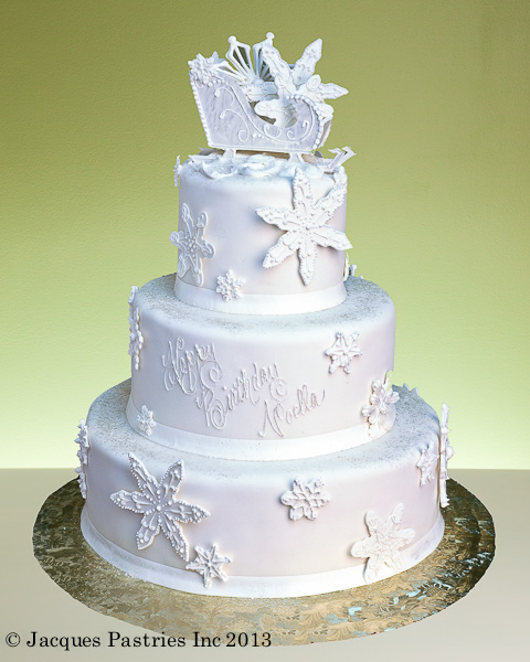 Winter Birthday Cake Wedding Cakes